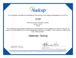 Certificat Nadcap