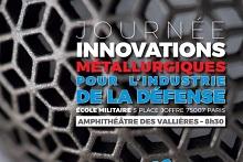 """Journée """"Innovations Métallurgiques pour l'Industrie de la Défense"""" le 29 mars 2018 à Paris"""